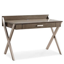 See Details - X-Leg Mixed Metal and Wood Laptop Computer Desk #84404