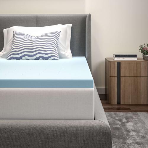 Flash Furniture - Capri Comfortable Sleep 2 inch Cool Gel Memory Foam Mattress Topper - Twin