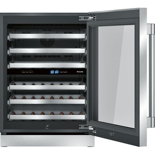 Freedom® Wine cooler with glass door 24'' Professional T24UW920RS