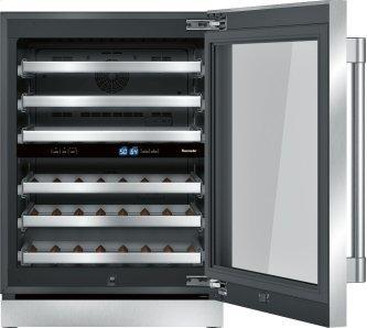 Freedom™ Wine cooler with glass door 24'' Professional T24UW920RS