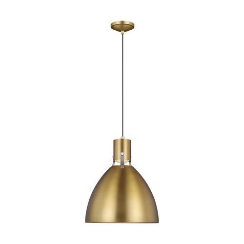 Brynne Small LED Pendant Burnished Brass Bulbs Inc