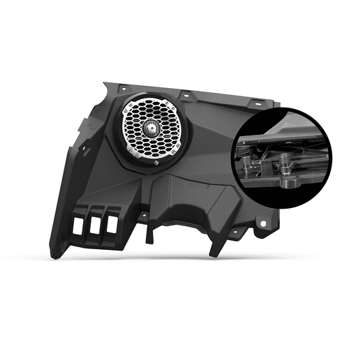 "Rockford Fosgate - 6.5"" front speaker enclosures (pair) for 2017+ Maverick X3 models"