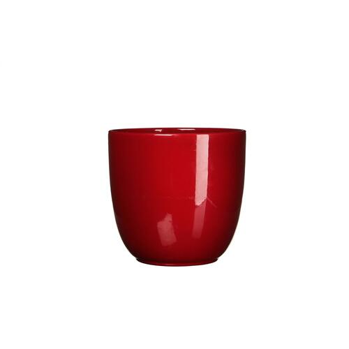 Tusca Round Planter Gloss Red