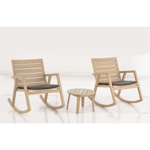 Sandy Lane Eucalyptus FSC KD Rocking Chair w/ Sunbrella cushion