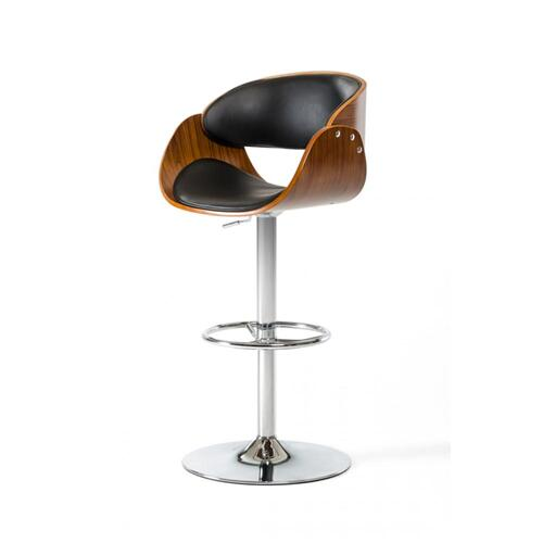 Modrest Roblin Modern Black Bar Stool