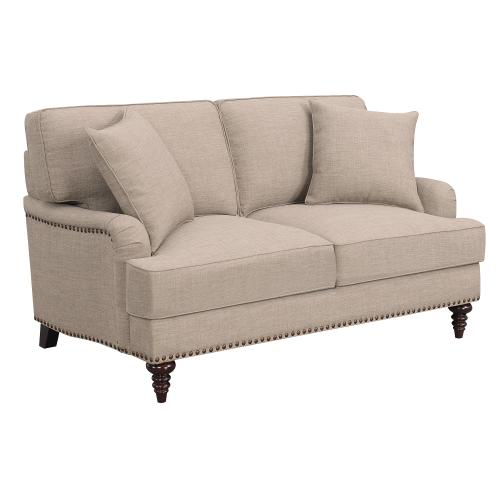 Abby Loveseat W/Pillows in Heirloom Smoke / Pewter