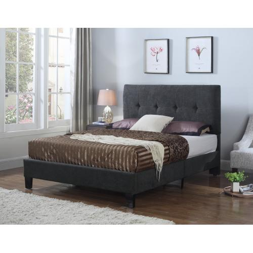 Emerald Home Harper Upholstered Bed Kit Full Charcoal B129-09hbfbr-13