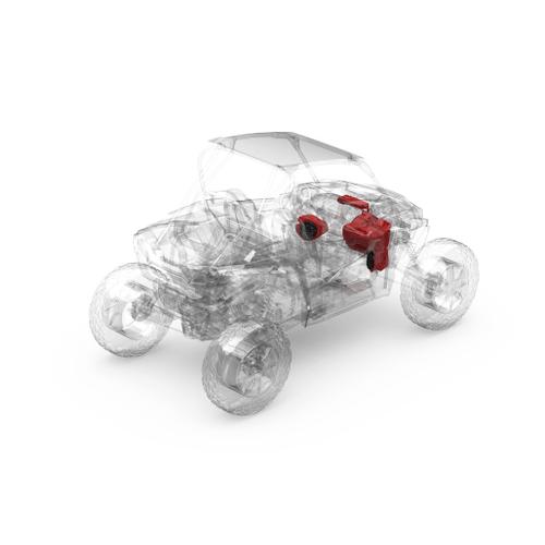 Rockford Fosgate - Ride Command® 2-Way Interface, 800 Watt, Front Color Optix™ Speaker & Subwoofer Kit for Select Polaris® RZR® Models (Gen-3)