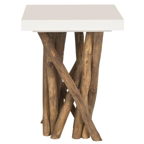 Hartwick Branched Side Table - White / Natural
