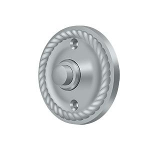 Deltana - Bell Button, Round with Rope - Brushed Chrome