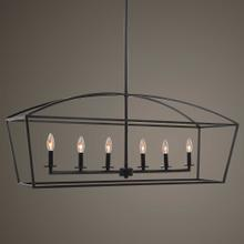 Clayton, 6 Lt Linear Chandelier