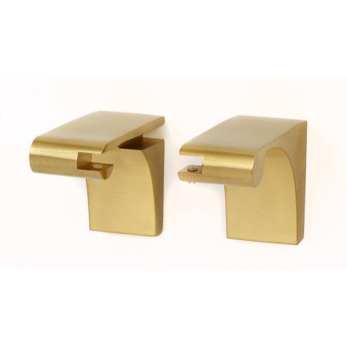 Luna Shelf Brackets A6850 - Satin Brass
