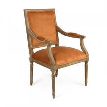 Clementine Velvet Louis Arm Chair
