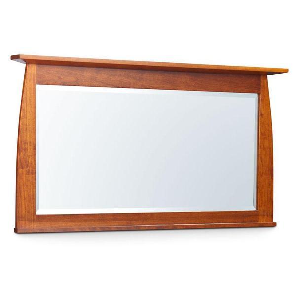 See Details - Aspen Bureau Mirror with Inlay, Medium - QuickShip