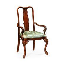 Mahogany dining armchair