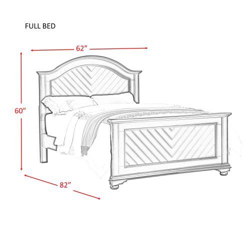 Gallery - Brookpine White Full Panel Bed