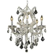 Maria Theresa Collection Chandelier Chrome Finish 6Lt