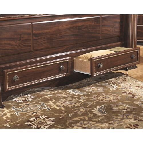Gabriela King Poster Bed With 2 Storage Drawers