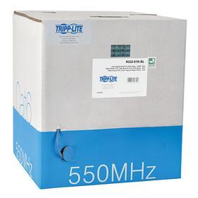 Cat6 Gigabit Solid-Core UTP PVC Bulk Ethernet Cable, Blue, 1000 ft. (304.8 m), TAA