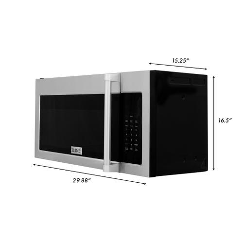 Zline Kitchen and Bath - ZLINE Over the Range Convection Microwave Oven in Stainless Steel with Traditional Handle and Sensor Cooking (MWO-OTR-H) [Color: Stainless Steel]