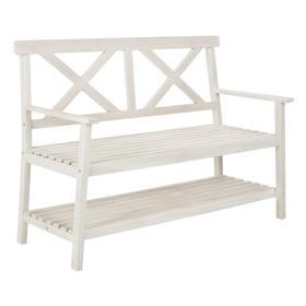 Mayer 49.21- Inch W Outdoor Bench - White