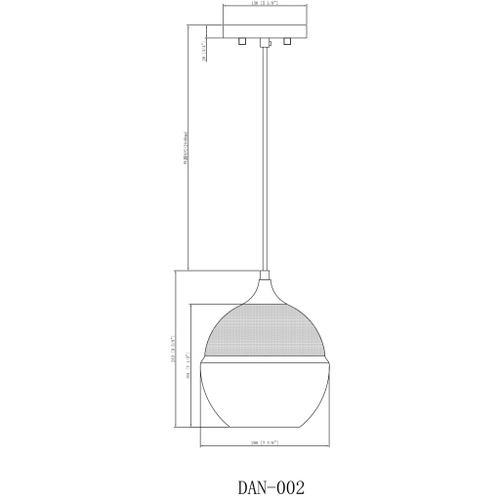 "Dean DAN-002 7.5""H x 8""W x 8""D"