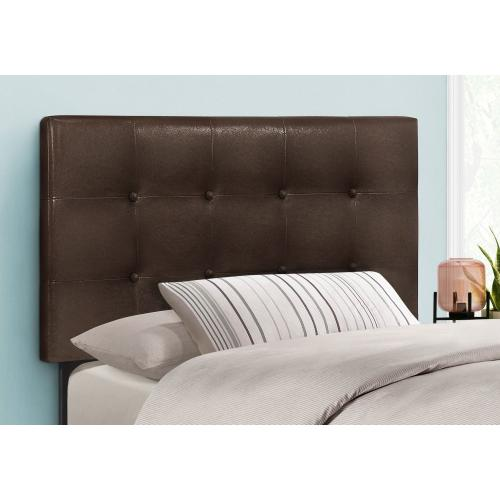 Gallery - BED - TWIN SIZE / BROWN LEATHER-LOOK HEADBOARD ONLY