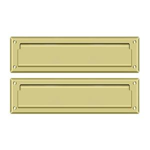 """Deltana - Mail Slot 13-1/8"""" with Interior Flap - Polished Brass"""