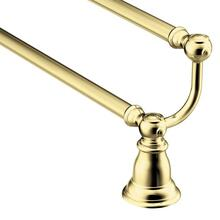 "Kingsley polished brass 24"" double towel bar"