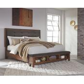 California King Upholstered Panel Bed With Dresser