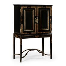 Black & gold drinks cabinet