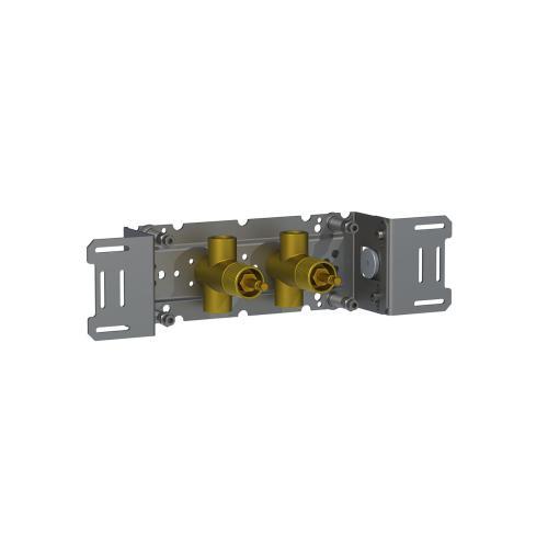 "Build-in double stop valve, 1/2"""