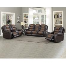 Park Avenue Triple Power 3 Piece Brown Motion Set(Sofa, Loveseat & Chair)