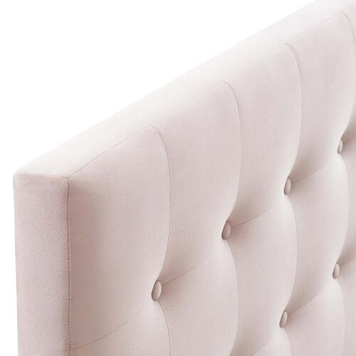 Emily Full Biscuit Tufted Performance Velvet Headboard in Pink
