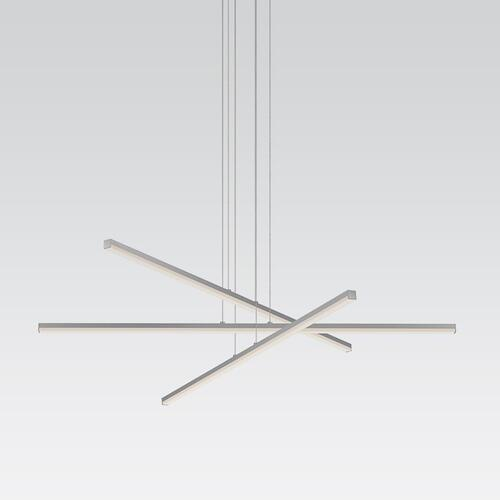 Sonneman - A Way of Light - Stix LED Pendant [Size=3-Arm, Color/Finish=Bright Satin Aluminum]