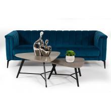 Divani Casa Jeremy Modern Teal Blue Velvet Sofa