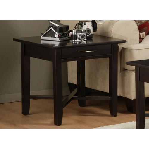 - Demilune Square End Table With Drawer