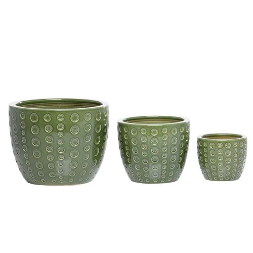 Alfresco Home - Circles two Cachepot Set of 3
