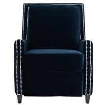 Buddy Velvet Recliner - Midnight Blue
