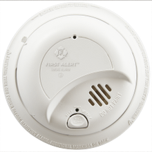 Hardwired Ionization Smoke Alarm with Battery Backup