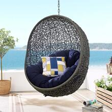 Hide Sunbrella® Fabric Swing Outdoor Patio Lounge Chair Without Stand in Gray Navy