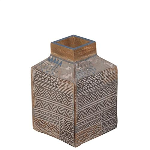 Product Image - Taos Small Carved Square Vase