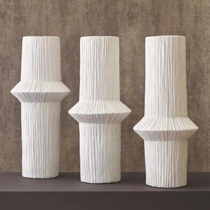 Ascending Ring Vase-Matte White-High