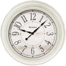 20-Inch Antique White Farmhouse Wall Clock