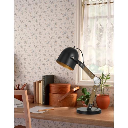 60W Binimi Adjust Able Wood/Metal Desk Lamp With Metal Shade