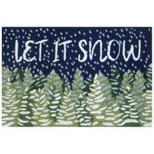 Liora Manne Frontporch Let It Snow Indoor/Outdoor Rug Midnight