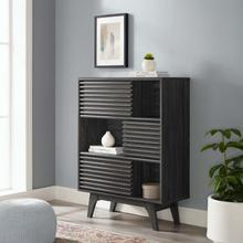 See Details - Render Three-Tier Display Storage Cabinet Stand in Charcoal