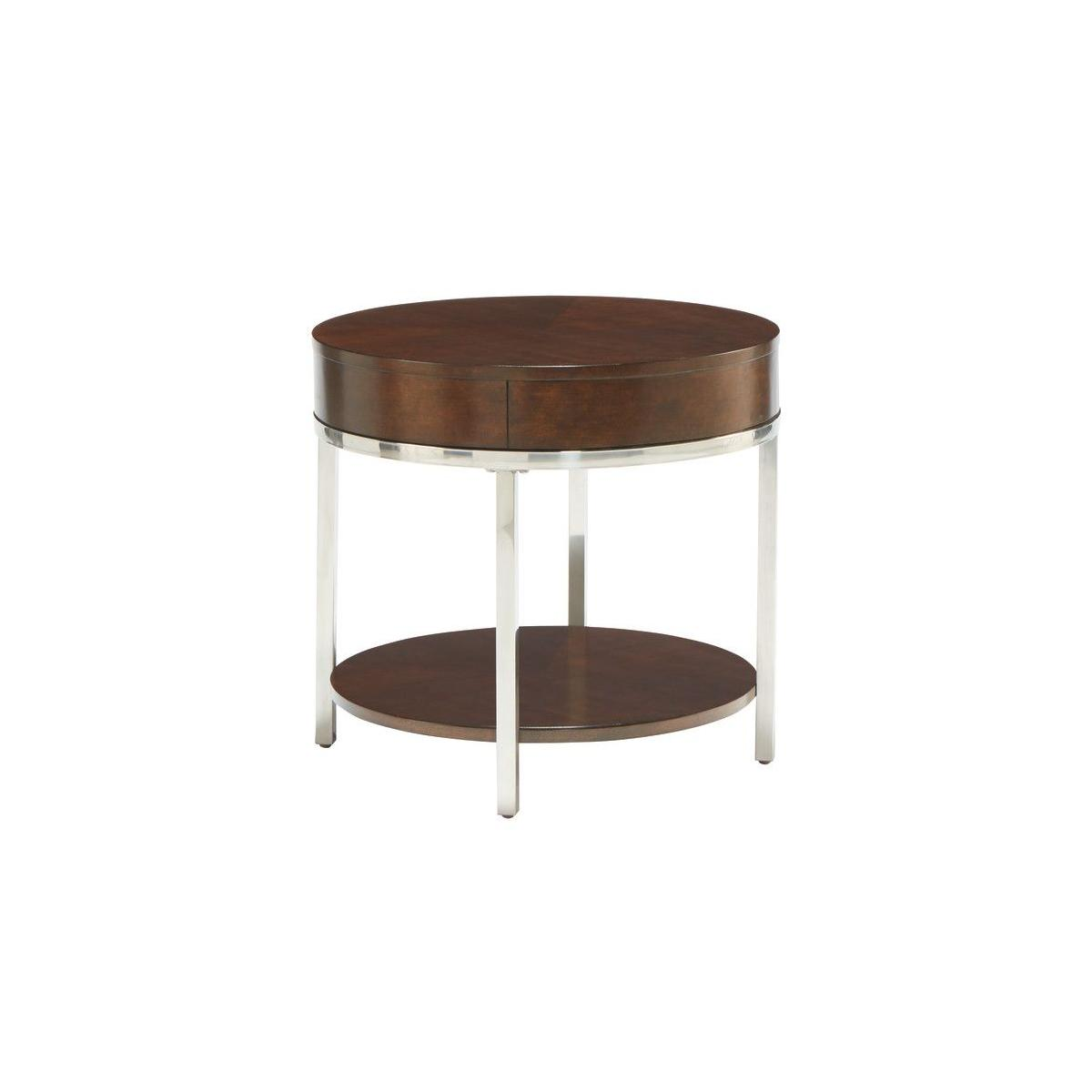 Mira End Table, Brown