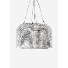 "**Delphine ChandelierHand Woven Natural RopeManila Rope & Wire SuspensionShade 33""w x 21""hWhite"