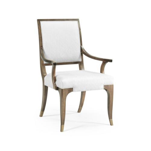 Hamilton Golden Amber Dining Armchair, Upholstered in COM